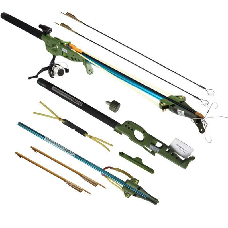 Multi function shooting fly fishing rod reel arrows for Slingshot fishing pole