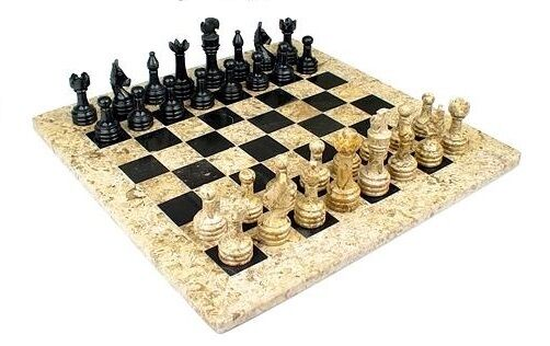 Beautiful Handcrafted Marble Onyx Chess Board Set Size 16