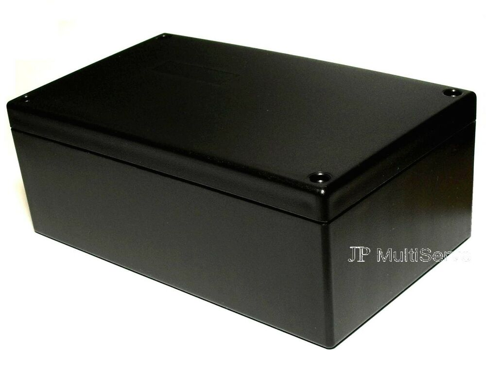 Black Plastic Electrical Enclosures : Project box inches black plastic