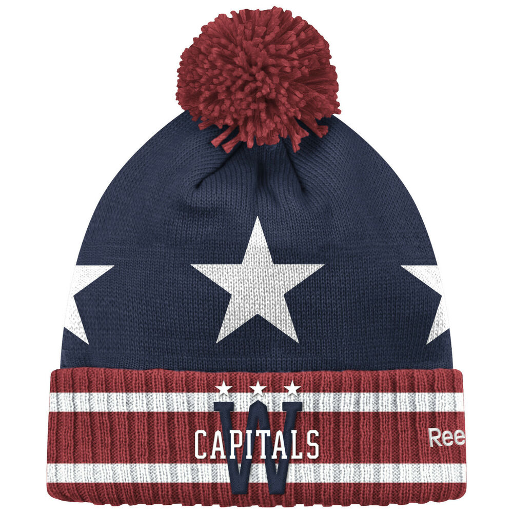 272ac6f0d Details about WASHINGTON CAPITALS 2015 NHL WINTER CLASSIC REEBOK CUFFED POM KNIT  HAT TOQUE
