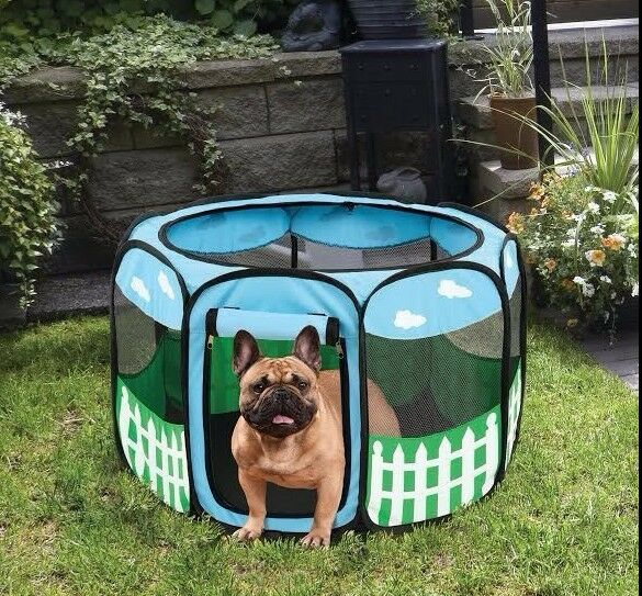 Large Pet Dog Cat Tent Playpen Exercise Soft Crate