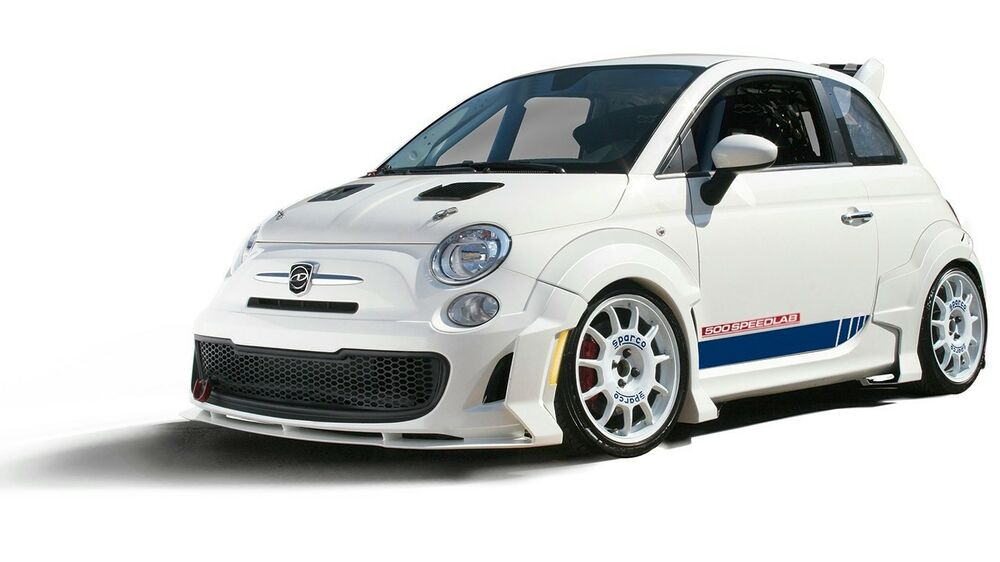 fiat 500 abarth 7 piece body kit exclusive new item fits 2012 2017 ebay. Black Bedroom Furniture Sets. Home Design Ideas