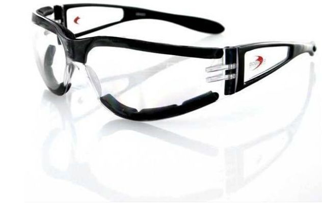 NEW BOBSTER SHIELD II FRAMELESS SUNGLASSES CLEAR LENSES ...