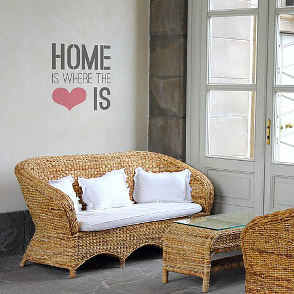 Home Is Where The Heart Is Quote: Home Is Where The Heart Is Quote Stencil For Walls