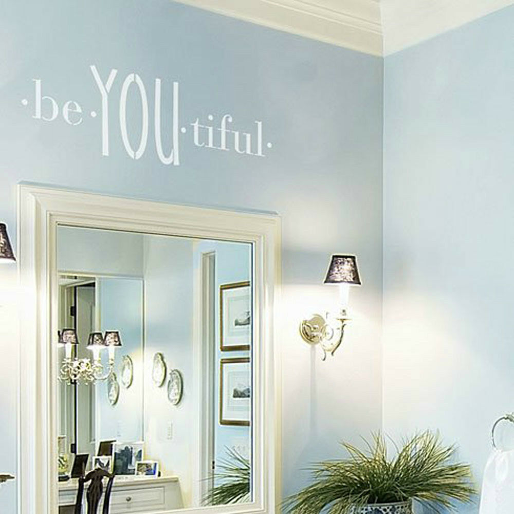 BeYOUtiful Quote Wall Stencil