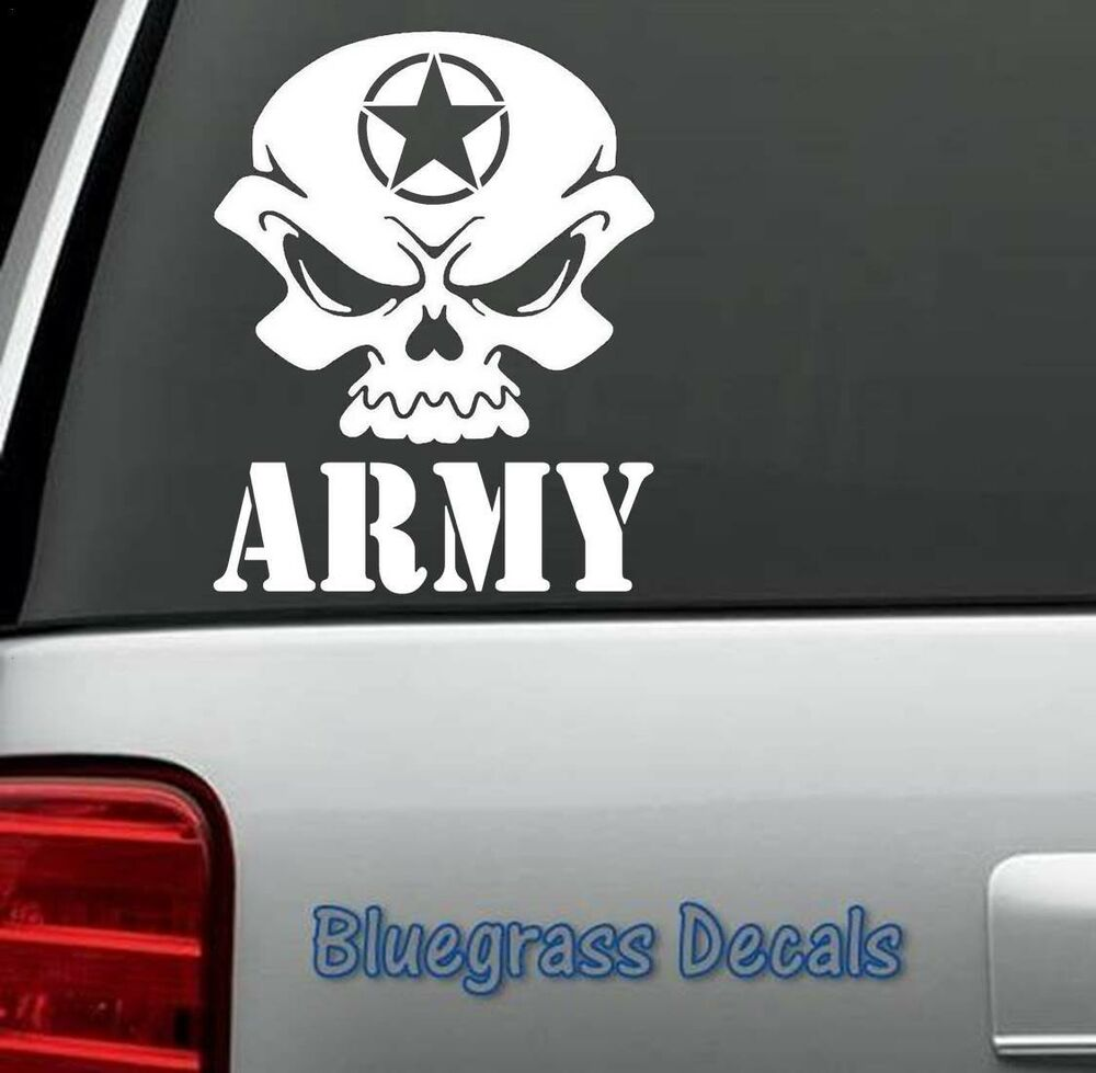 Details about d1043 army skull decal sticker car truck suv van laptop united states military