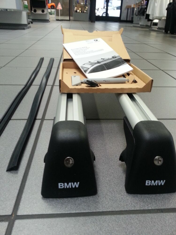 Bmw X5 Towing >> BMW Base Support NEW X5 2014 and up Genuine Roof Rack OEM Dealer Sold w Lock | eBay