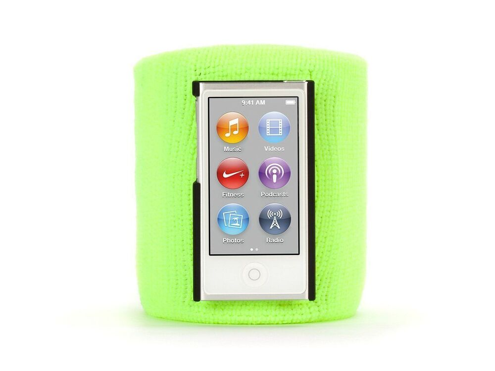 citron sportcuff wristband case for ipod nano 7th gen. Black Bedroom Furniture Sets. Home Design Ideas