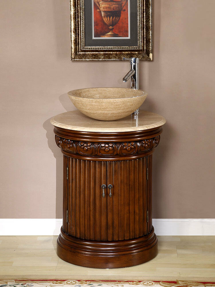 vessel cabinet bathroom 24 inch bathroom single vanity travertine vessel top 14931