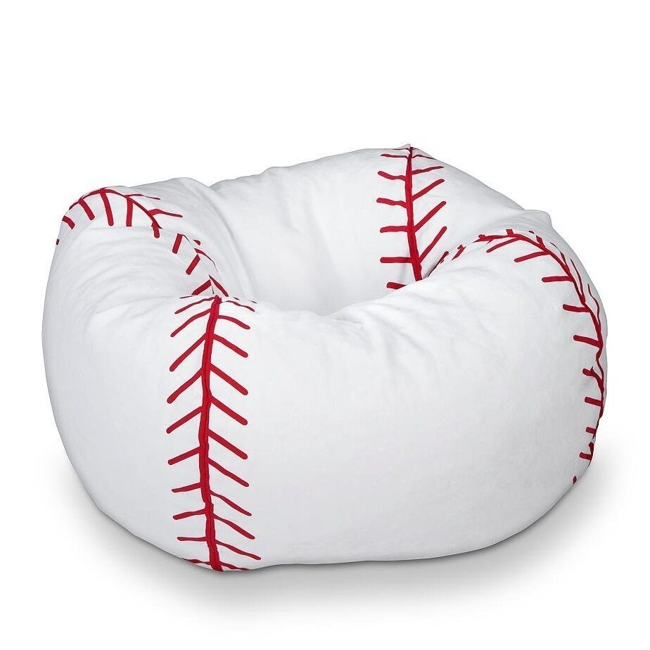 Ace Bayou Baseball Bean Bag Chair For Kids In Classic