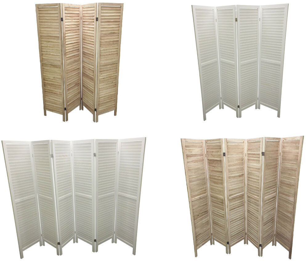 Wooden slat room divider home privacy screen partition