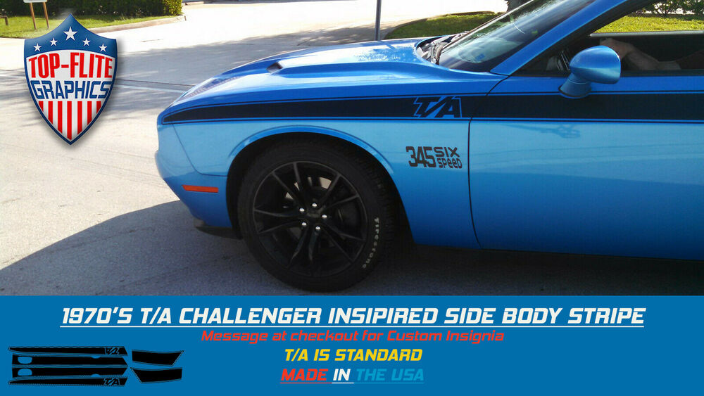 1970 T A Inspired Stripes For 2008 2016 Dodge Challenger
