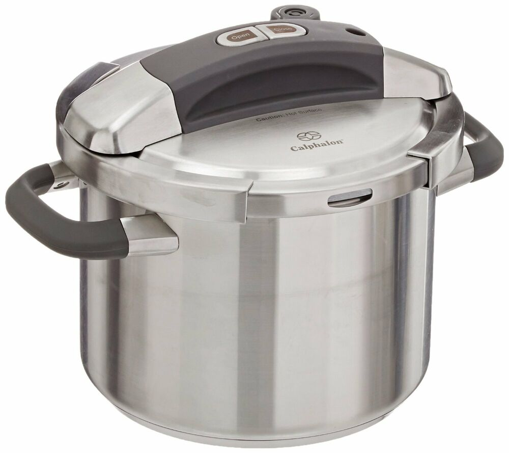 calphalon stainless steel pressure cooker 6 quart ebay. Black Bedroom Furniture Sets. Home Design Ideas