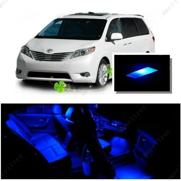 For Toyota Sienna 2011 2016 Blue Led Interior Kit Blue License Light Led Ebay