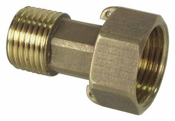 Brass water meter connection Union connector 1/2x3/4 or