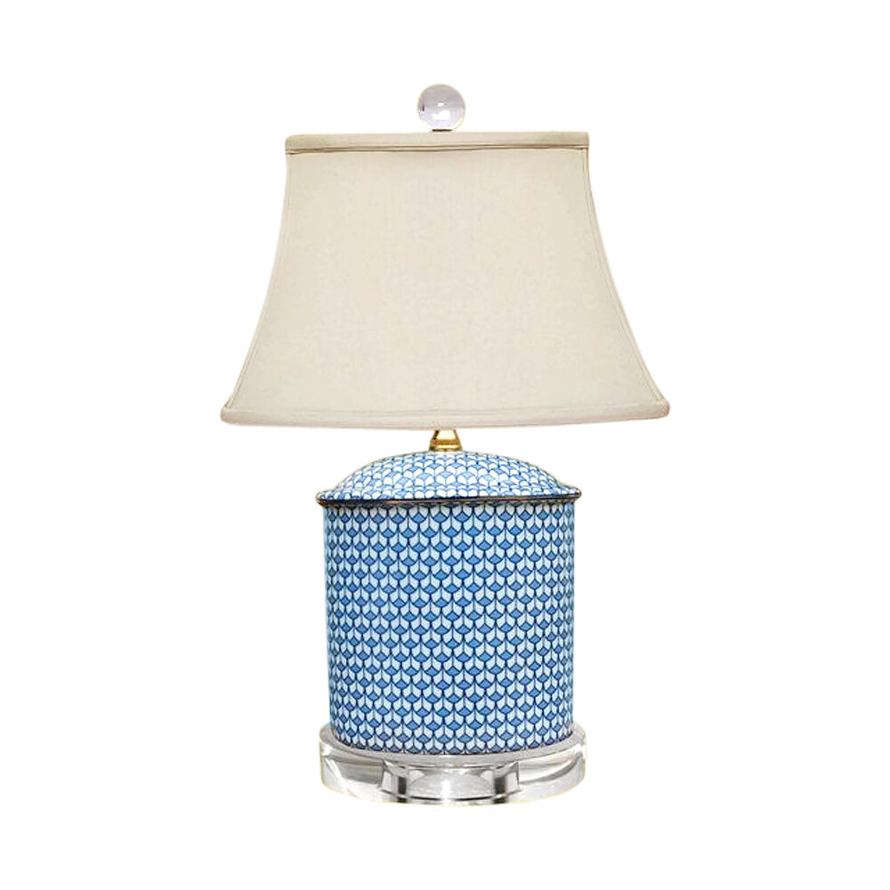 beautiful blue and white porcelain oval vase patterned table lamp 19 5. Black Bedroom Furniture Sets. Home Design Ideas