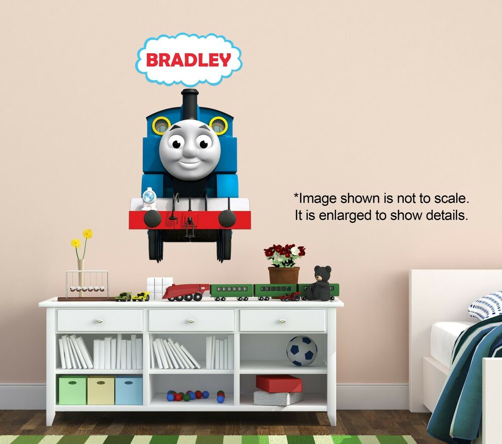personalized thomas the train wall decal removable and replaceable ebay. Black Bedroom Furniture Sets. Home Design Ideas