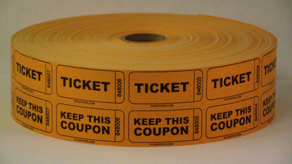 Double Roll Of Tickets/Coupons