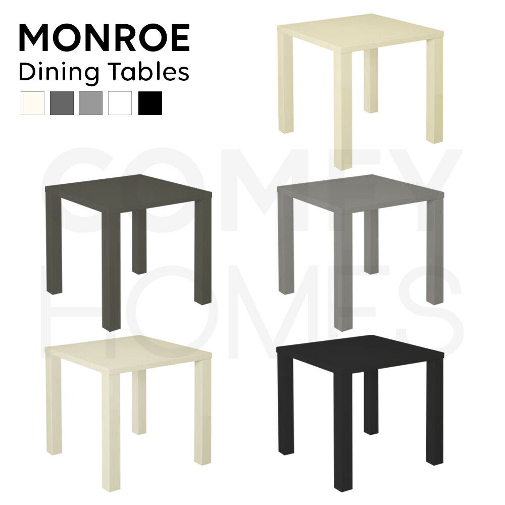 Monroe small dining table available in black white cream for 2 seater dining table