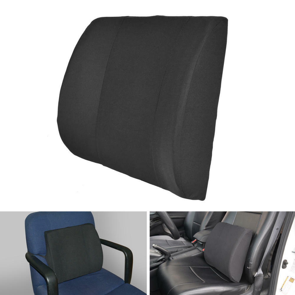 lumbar cushion back support travel pillow memory foam car seat home office chair ebay. Black Bedroom Furniture Sets. Home Design Ideas