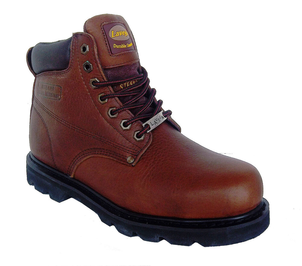 la 8639 mens brown leather insulated slip resistant