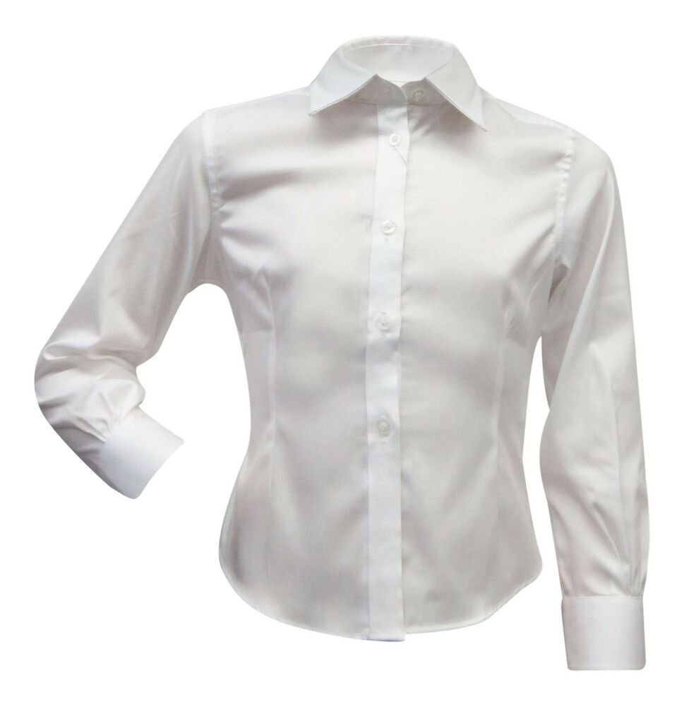 Blooks girls pointy collar button down shirt for school for Button down uniform shirts