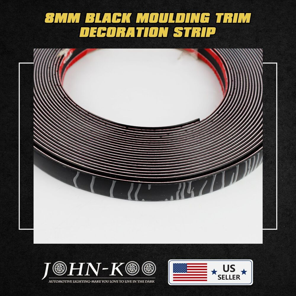 10ft Car Black Styling Decoration Moulding Trim Strip Tape Adhesive 8mm Durable Ebay