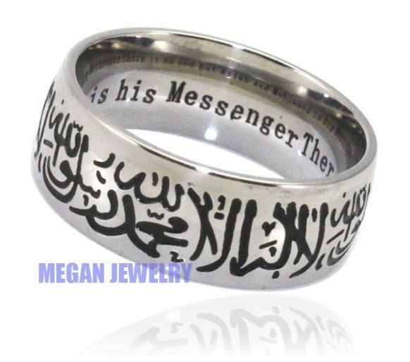 Silver Plating Muslim Shahada Ring With English. Victorian Style Engagement Rings. Diamond Accent Rings. Hindu Wedding Wedding Rings. Gun Barrel Wedding Rings. Clubbing Rings. Pretty Rose Wedding Rings. Nose Rings. Hippie Wedding Rings