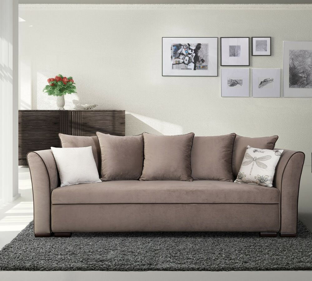 exklusives big sofa schlafsofa bettsofa sanremo mit. Black Bedroom Furniture Sets. Home Design Ideas
