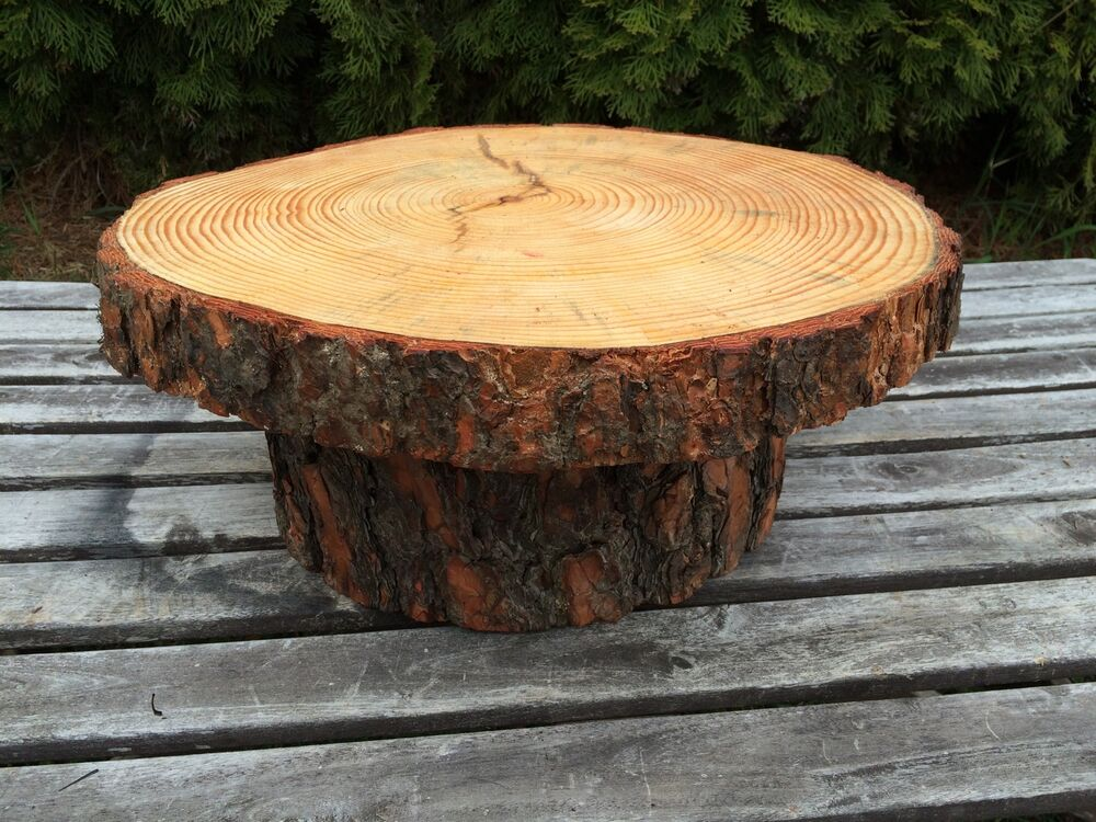 Rustic Wood Cake Stand Uk