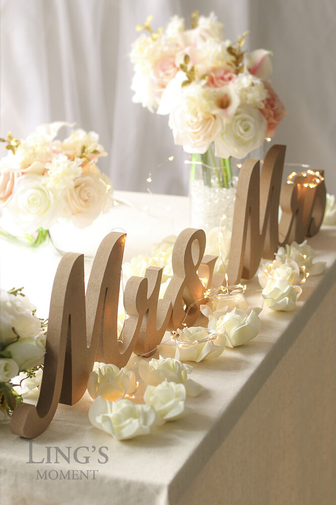 ideas for wedding tables decoration large mr and mrs signs wooden letters rustic wedding 5075