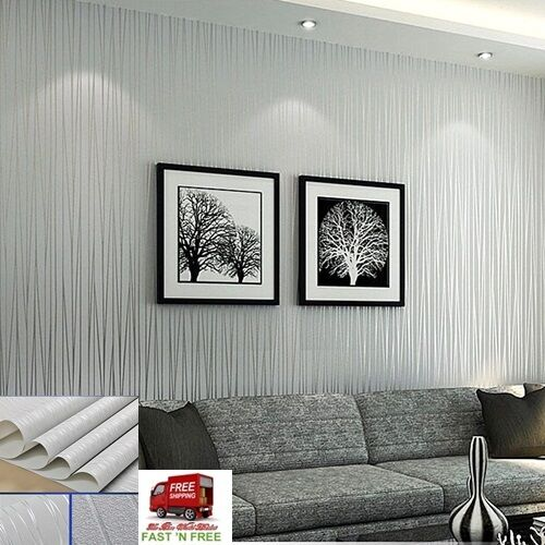 57 sq ft 3d wallpaper background tv living room grey for Grey lounge wallpaper