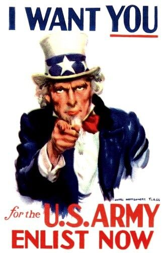 world war 1 uncle sam i want you us army james m fagg poster ww 1 ebay. Black Bedroom Furniture Sets. Home Design Ideas