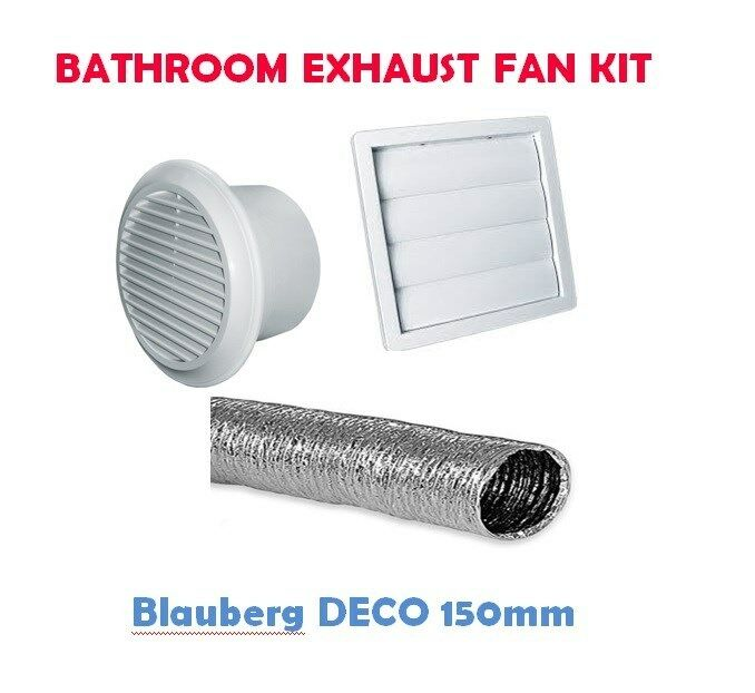 Inline Vent Fans For Bathrooms : Bathroom exhaust kit with deco inline fan extraction