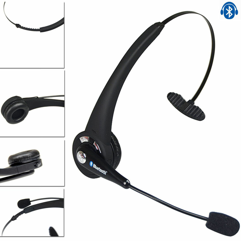 bluetooth headset wireless headphone with mic for ps3 cell phone pc usa 743828421335 ebay. Black Bedroom Furniture Sets. Home Design Ideas