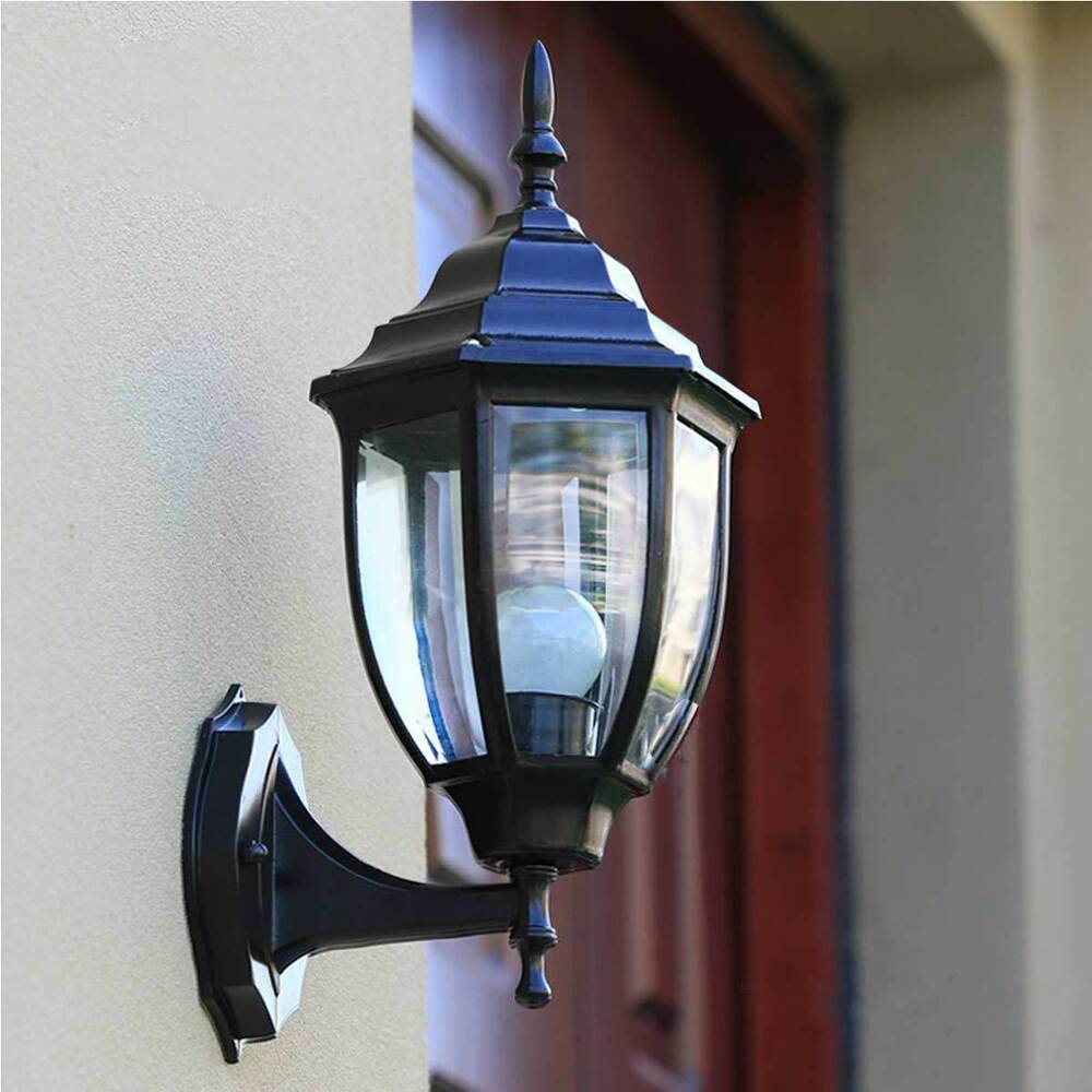 Outdoor Sconce Wall Lantern Outside Light Security Black Bronze Exterior Lamp eBay