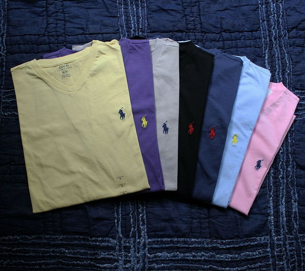 Nwt polo ralph lauren mens v neck t shirt v neck tee t for What is polo neck t shirts