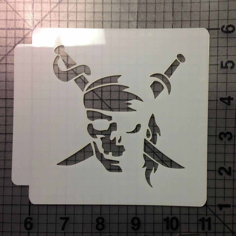Pirate Skull Stencil 100 Ebay