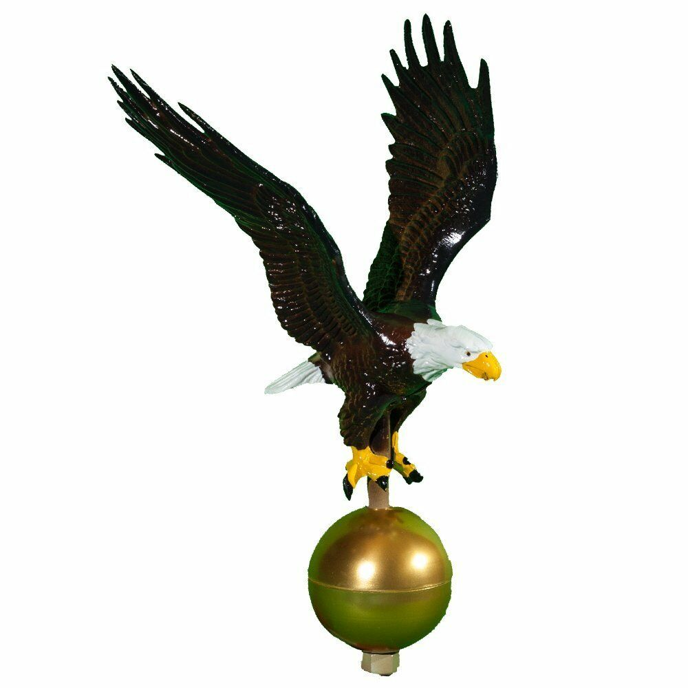 Flagpole Eagle Topper American Flag Pole Bald Patriotic