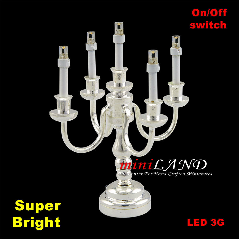 Candelabra 5arms Bright Battery Operated LED Light LAMP