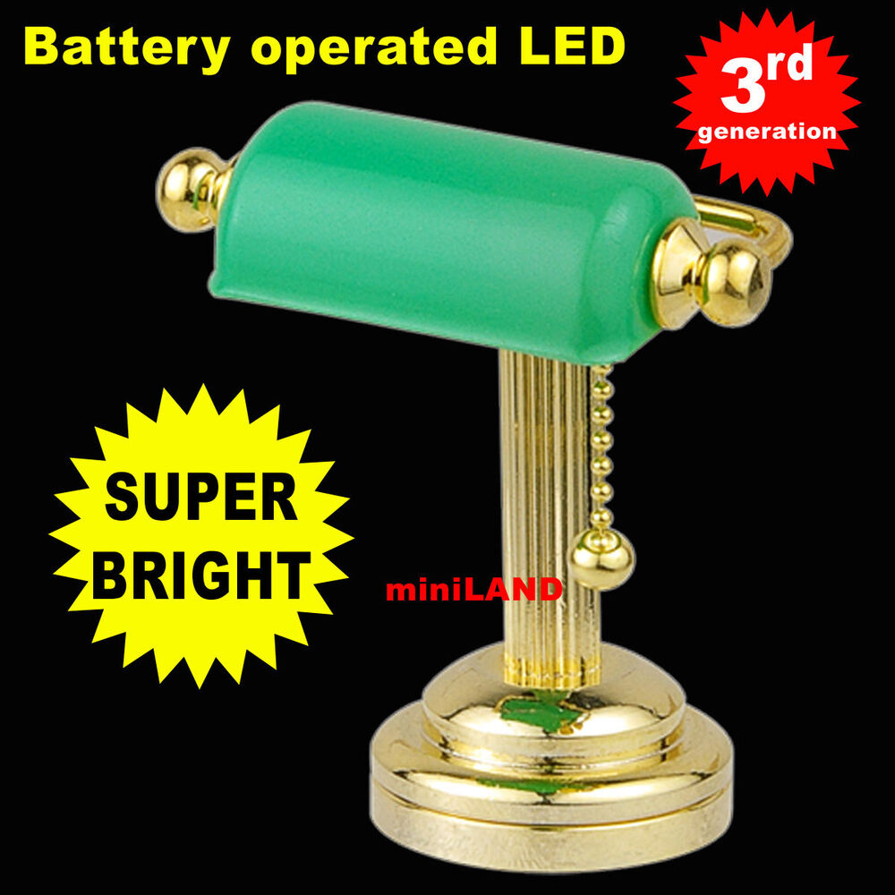 Dollhouse Miniatures Battery Lights: Table Desk Gr Super Bright Battery Operated LED LAMP