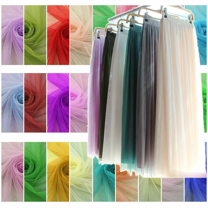 Soft Tutu Fabric Mesh Net Tulle Wed Bridal Decor Dress