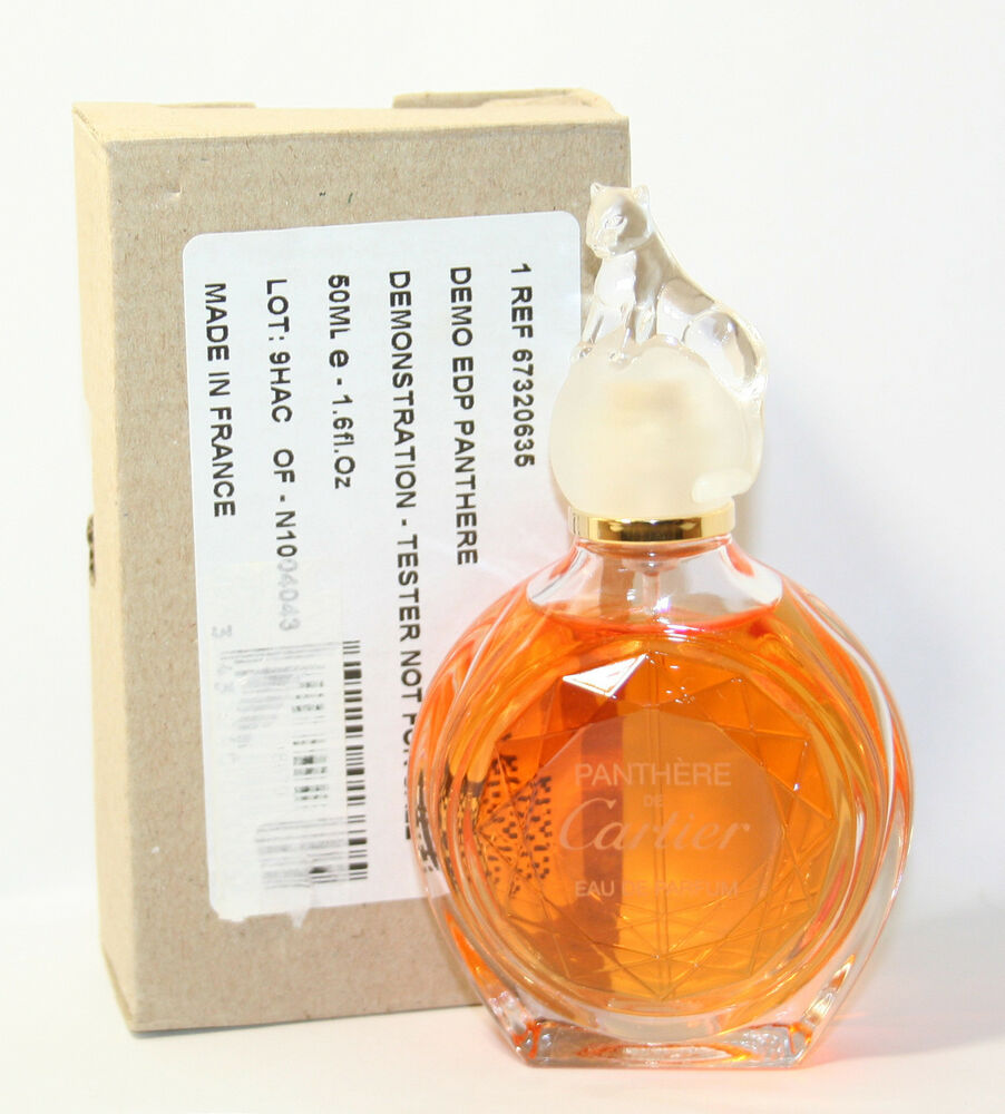 new in tester box cartier panthere de cartier eau de parfum 50ml 1 6 1 7 oz ebay. Black Bedroom Furniture Sets. Home Design Ideas