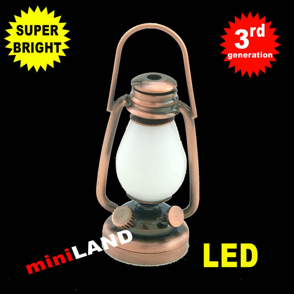 Dollhouse Miniatures Battery Lights: Battery 1/6 1:6 LED OIL LAMP Barbie Dollhouse Miniature