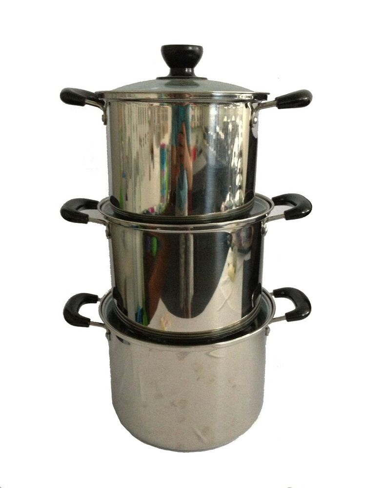 18 10 stainless steel 4 6 8 qt stock pot lid great product with low price ebay. Black Bedroom Furniture Sets. Home Design Ideas