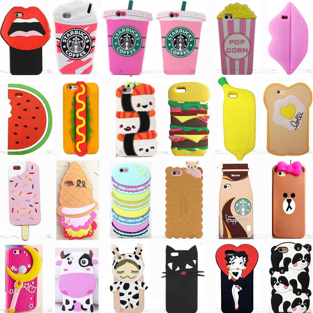 3d fashion cool cute cartoon silicone phone case covers for 3d decoration for phone cases