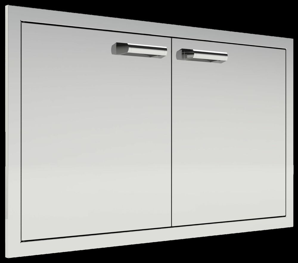 "Kitchen Outside Doors: BBQ Island 36"" Double Doors USA QUALITY MADE Outdoor Kitchen Door"