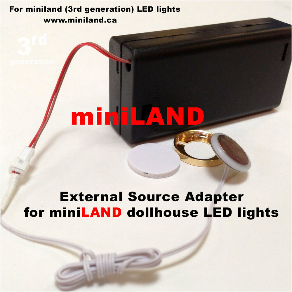 Dollhouse Miniatures Battery Lights: External Source Adapter Kit For LED Lights Dollhouse