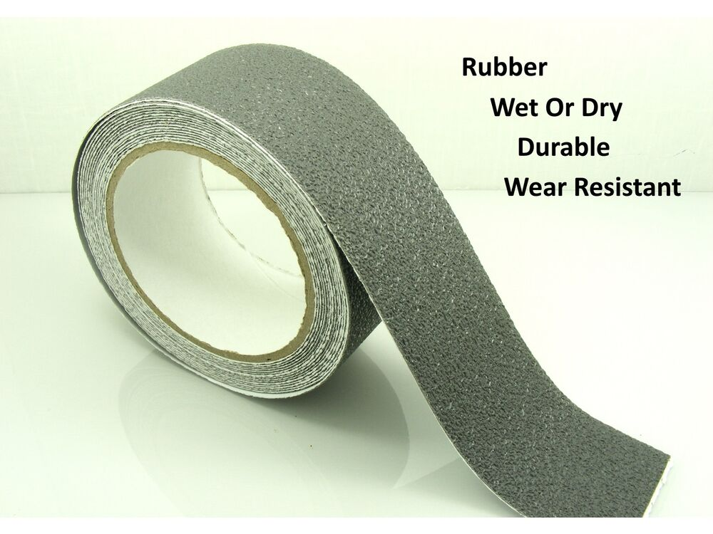 Grey 50mm 2 Quot Wide Rubber Anti Non Slip Safety Tape Shower Tiles Bathtub Ebay
