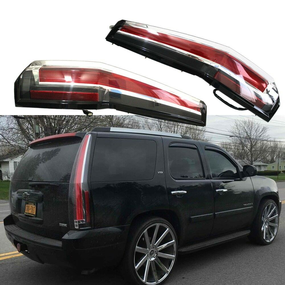 led tail lights rear for gmc yukon chevy chevrolet. Black Bedroom Furniture Sets. Home Design Ideas
